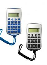 Calculadora de plástico com cordão.
