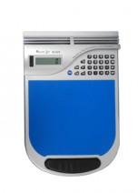 Calculadora 8 dígitos com e mouse pad, com almofada de couro sintético.